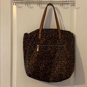 GUC Leopard Print Tote Bag